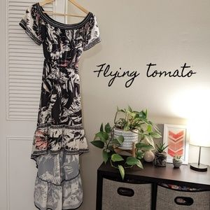 🆕 Flying Tomato Maxi High Low Dress
